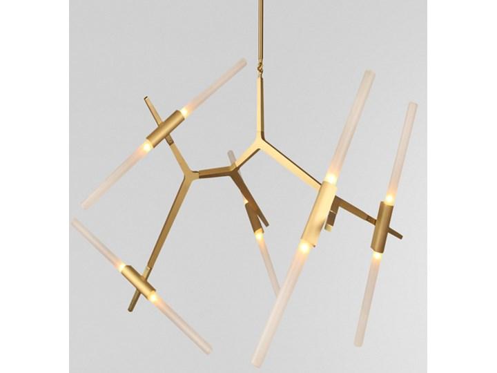 Structura gold - lampa nowoczesna Pomieszczenie Jadalnia Metal Szkło Lampa inspirowana Styl Nowoczesny