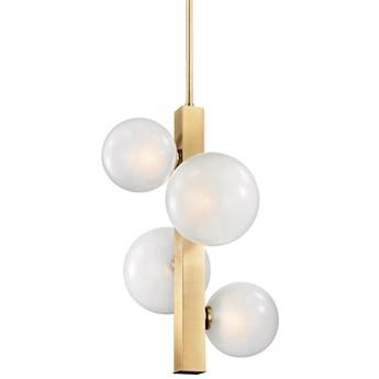 4 Balls at Rod - lampa wisząca - 4 x mleczna kula