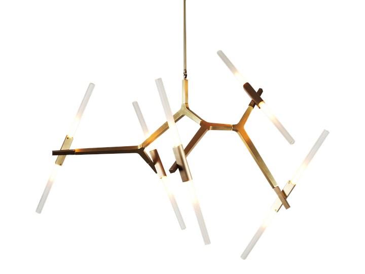 Structura gold - lampa nowoczesna Metal Szkło Lampa inspirowana Funkcje Brak dodatkowych funkcji