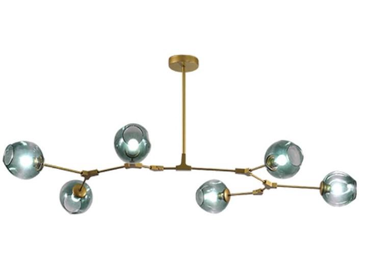 Chemistry gold - 6-punktowa nowoczesna lampa wisząca - różne klosze Funkcje Brak dodatkowych funkcji Szkło Metal Lampa inspirowana Lampa z kloszem Ilość źródeł światła 6 źródeł