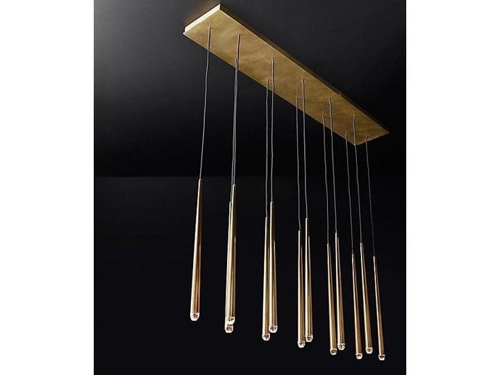 Brass Flute Row - lampa sufitowa rzędowa Mosiądz Metal Kategoria Lampy wiszące Żyrandol Styl Nowoczesny