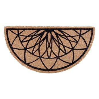 Brązowo-czarna półokrągła wycieraczka z włókna kokosowego PT LIVING Fairytale coir