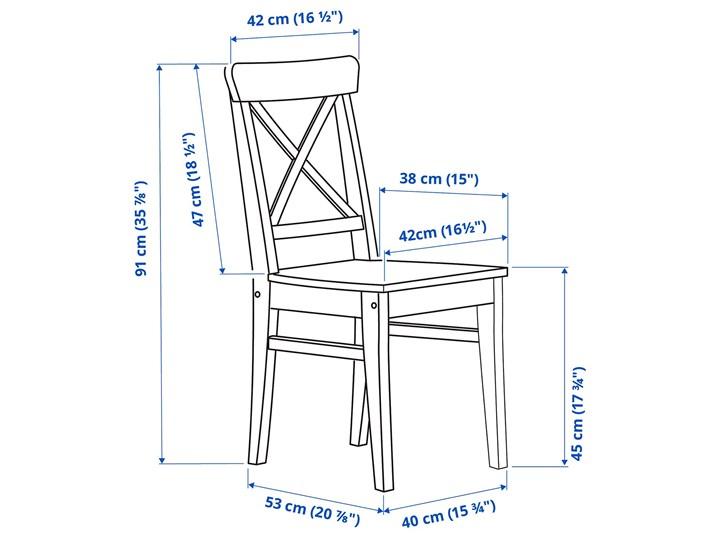 IKEA INGATORP / INGOLF Stół i 4 krzesła, biały/Nordvalla beżowy, 110/155 cm Kategoria Stoły z krzesłami Pomieszczenie Salon