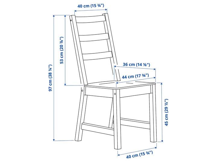 IKEA NORDVIKEN / NORDVIKEN Stół i 2 krzesła, biały/biały, 74/104x74 cm Kategoria Stoły z krzesłami Pomieszczenie Jadalnia