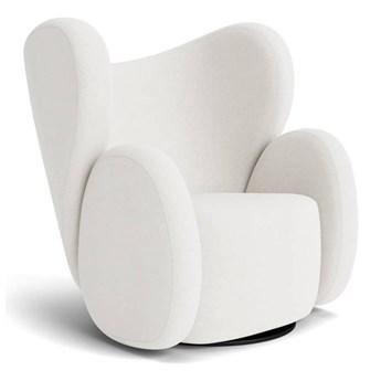 Fotel obrotowy Big Big biały tkanina Barnum Boucle NORR11