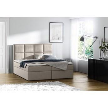 łóżko kontynentalne GALAXY : Powierzchnia spania łóżka - 160x200cm, Wybierz tkaninę  - Casablanca 2301