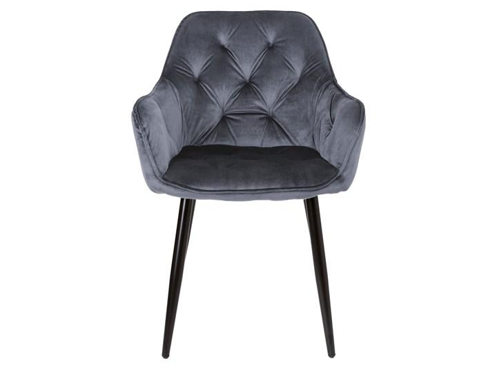 Krzesło welurowe Nevada VELVET Grafitowe Tapicerowane Tworzywo sztuczne Głębokość 61 cm Metal Tkanina Krzesło inspirowane Wysokość 85 cm Skóra Szerokość 59 cm Styl Nowoczesny