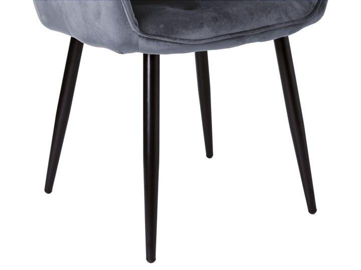 Krzesło welurowe Nevada VELVET Grafitowe Szerokość 59 cm Wysokość 85 cm Tkanina Tapicerowane Kolor Szary Krzesło inspirowane Skóra Głębokość 61 cm Tworzywo sztuczne Metal Styl Nowoczesny