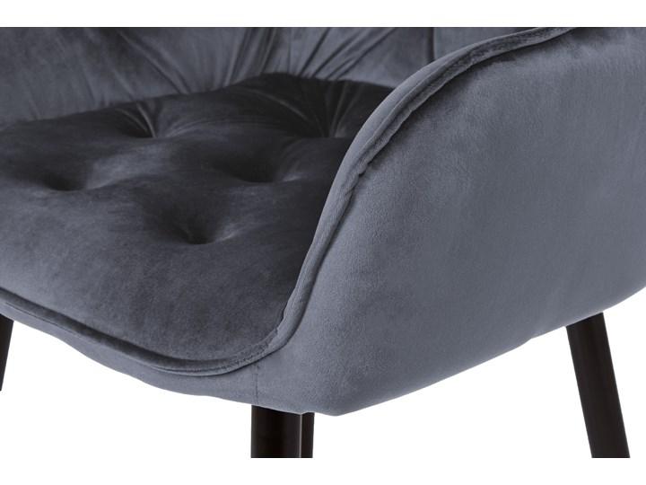 Krzesło welurowe Nevada VELVET Grafitowe Tworzywo sztuczne Krzesło inspirowane Tapicerowane Tkanina Skóra Wysokość 85 cm Metal Głębokość 61 cm Szerokość 59 cm Kolor Szary