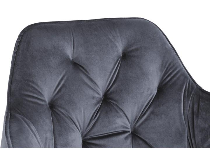 Krzesło welurowe Nevada VELVET Grafitowe Tworzywo sztuczne Metal Wysokość 85 cm Głębokość 61 cm Tkanina Skóra Tapicerowane Krzesło inspirowane Szerokość 59 cm Styl Skandynawski Kolor Szary
