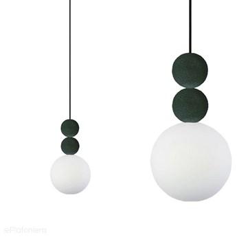 Nowoczesna lampa wisząca do salonu - dwie kule - stal, zamsz (1xE27) (Bola 2 Velvet) Loftlight, Olive Velvet