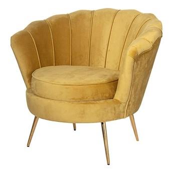 Fotel Audrey Mustard, 83 x 80 x 76 cm