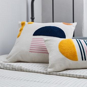 Poszewka na poduszkę Natala  półkole niebieskie  45 x 45 cm