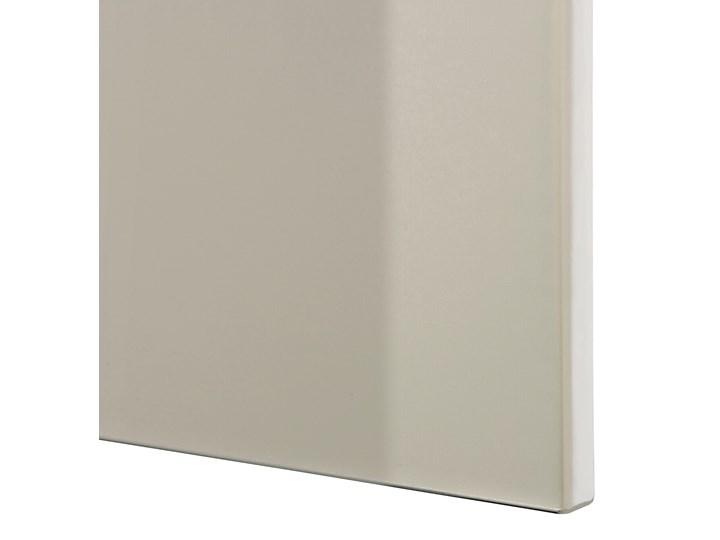 IKEA BESTÅ Kombinacja z drzwiami, Dąb bejcowany na biało/Selsviken/Stubbarp wysoki połysk beż, 180x42x74 cm Drewno Szerokość 180 cm Płyta MDF Z szafkami Głębokość 42 cm Wysokość 42 cm Kolor Beżowy
