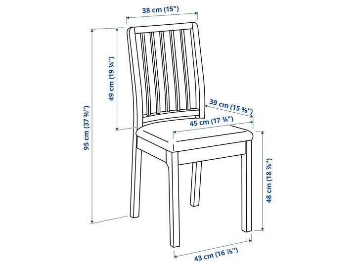 IKEA BJURSTA / EKEDALEN Stół i 4 krzesła, biały/Orrsta jasnoszary, 115 cm Pomieszczenie Jadalnia