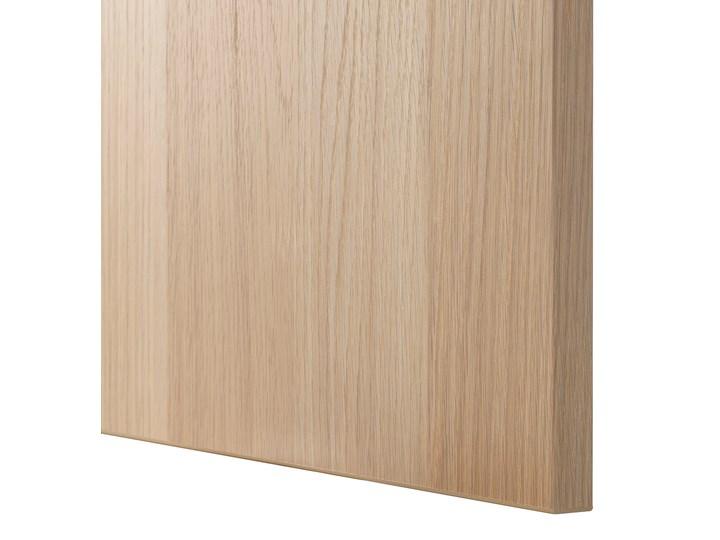 IKEA BESTÅ Kombinacja z drzwiami, Dąb bejcowany na biało/Lappviken/Stubbarp dąb bejcowany na biało, 180x42x74 cm Kolor Biały Płyta MDF Szerokość 180 cm Wysokość 42 cm Z szafkami Drewno Głębokość 42 cm Styl Skandynawski