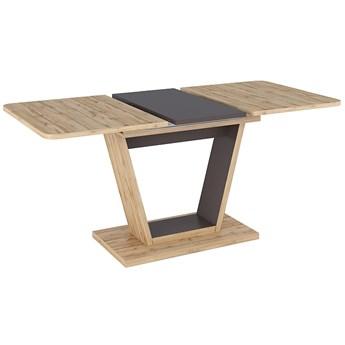 Dwukolorowy stół jadalniany na jednej nodze Nigel