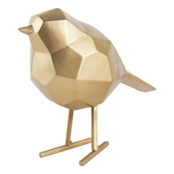 Figurka dekoracyjna w kolorze złota w kształcie ptaszka PT LIVING Bird Small Statue