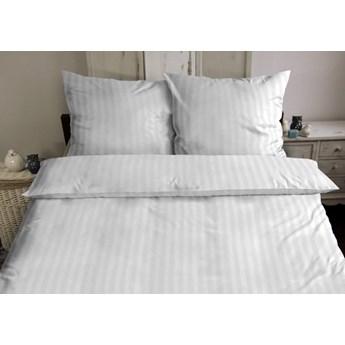 Darymex Pościel bawełniana hotelowa na zakładkę biała 160x200 PASY 2CM