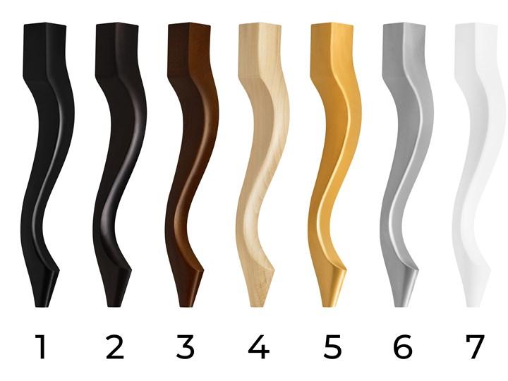 Ławka pikowana Chesterfield MAX Dark Brown Kolor Brązowy