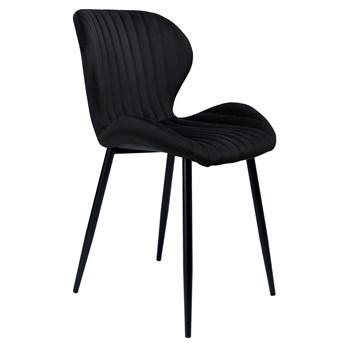 Krzesło aksamitne Dallas Velvet Czarne