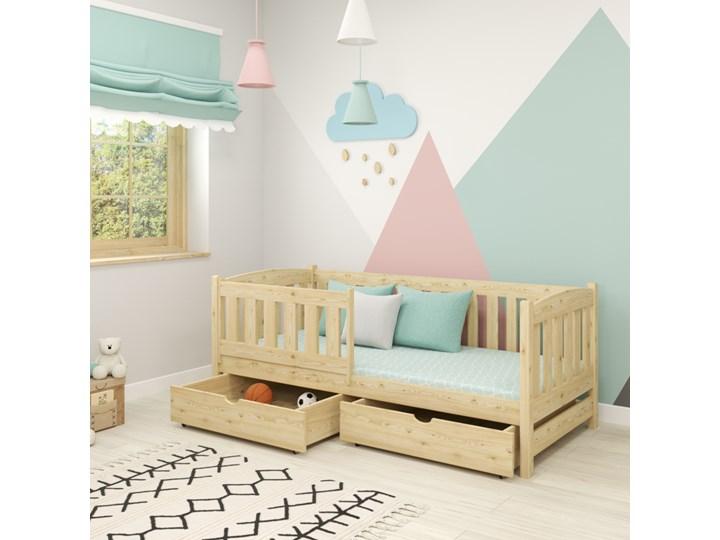 Łóżko pojedyncze KAJA wiele rozmiarów i kolorów Drewno Kategoria Łóżka dla dzieci Kolor Beżowy