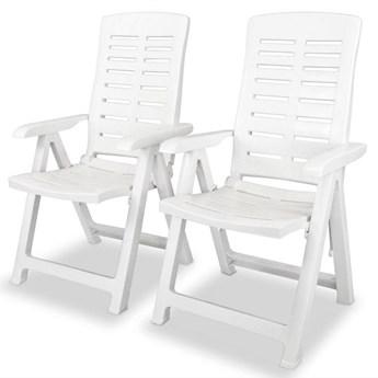 Zestaw białych krzeseł ogrodowych - Elexio 2Q