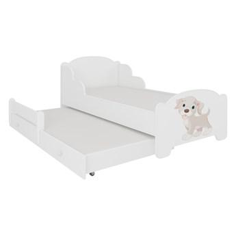 SELSEY Łóżko dzieciece podwójne Mehir 140x70 cm Pies