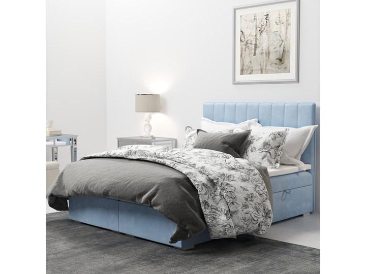 SELSEY Łóżko kontynentalne z pojemnikiem Hunbert Kolor Tkanina Łóżko tapicerowane Drewno Kategoria Łóżka do sypialni