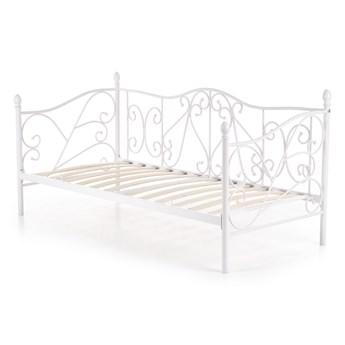 SELSEY Łóżko metalowe Perline 90x200 cm białe