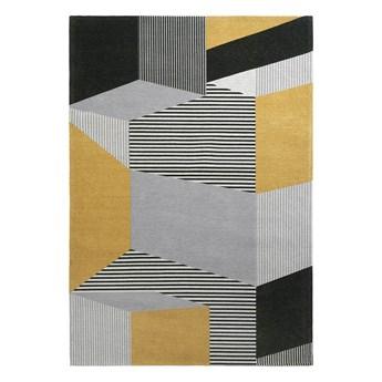 SELSEY Dywan łatwoczyszczący Heze żółty mozaika