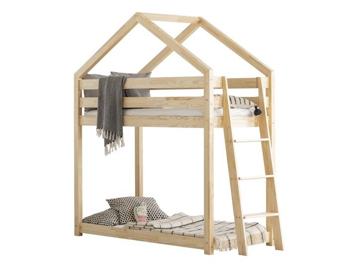 SELSEY Łóżko piętrowe Dalidda domek z drabinką z boku Domki Drewno Kategoria Łóżka dla dzieci