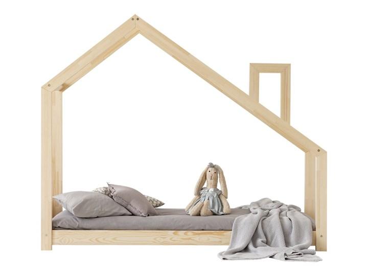 SELSEY Łóżko Dalidda domek z kominem Rozmiar materaca 90x140 cm Drewno Domki Rozmiar materaca 80x180 cm