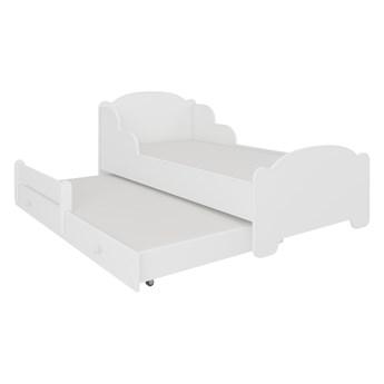 SELSEY Łóżko dzieciece podwójne Mehir 160x80 cm białe