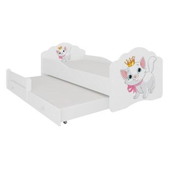 SELSEY Łóżko dziecięce podwójne Ruhsen 140x70 cm Kot