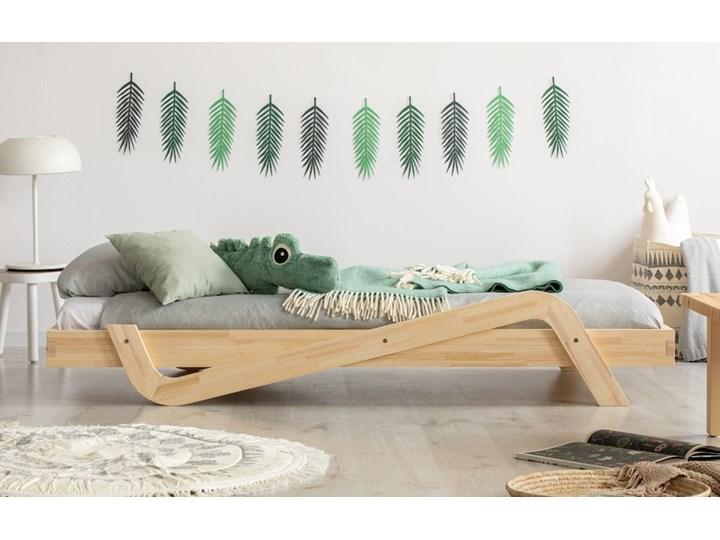 SELSEY Łóżko Sabris młodzieżowe z drewna Rozmiar materaca 100x200 cm Drewno Tradycyjne Rozmiar materaca 80x150 cm