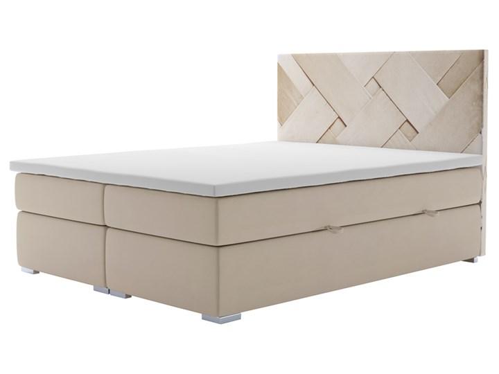 SELSEY Łóżko kontynentalne z pojemnikiem Lestrangie Tkanina Kategoria Łóżka do sypialni Drewno Styl Klasyczny