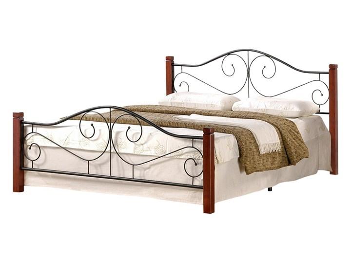 SELSEY Łóżko metalowe Santander 140x200 cm Drewno Kategoria Łóżka do sypialni Pojemnik na pościel Bez pojemnika