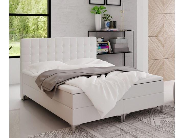 SELSEY Łóżko kontynentalne z pojemnikiem Rigil Metal Łóżko pikowane Kategoria Łóżka do sypialni
