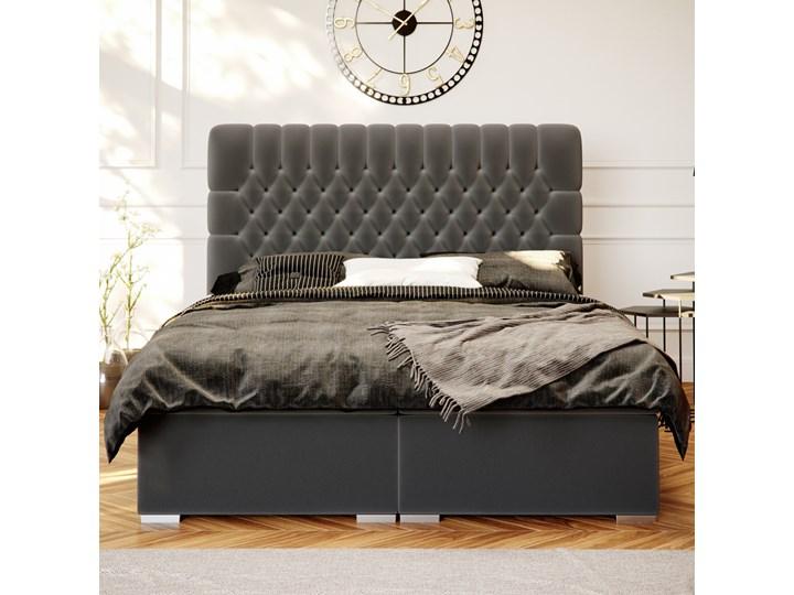 SELSEY Łóżko kontynentalne z pojemnikiem Persival Kategoria Łóżka do sypialni Łóżko tapicerowane Kolor Szary