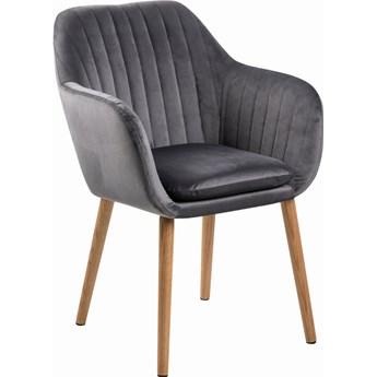 Krzesło tapicerowane z aksamitu Emilia