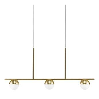 Duża lampa wisząca ze szkła opalowego Contina