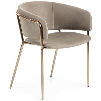 Krzesło z aksamitu Runnie