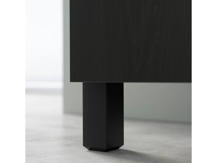 IKEA BESTÅ Kombinacja z drzwiami, Czarnybrąz/Riksviken efekt szczotkowanej ciemnej cyny, 120x42x202 cm Głębokość 42 cm Tworzywo sztuczne Stal Szerokość 120 cm Metal Drewno Plastik Pomieszczenie Pokój nastolatka