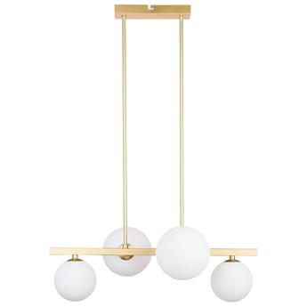 Wisząca LAMPA modernistyczna KAMA 34-73426 Candellux wisząca OPRAWA metalowa ZWIS kule balls mosiężne białe