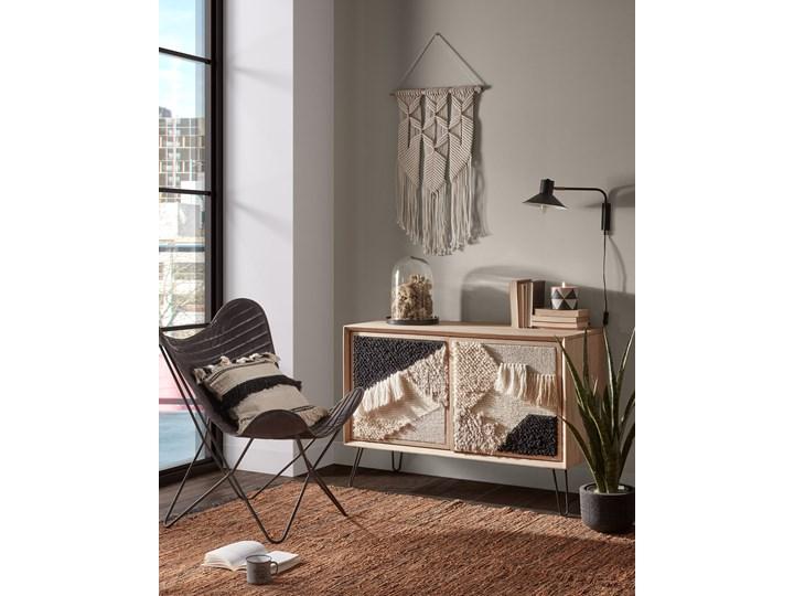 Poszewka na poduszkę Fosse 45x45 cm biało-czarna Poszewka dekoracyjna Kwadratowe Kolor Czarny Kolor Beżowy