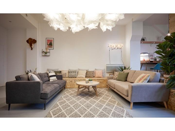 Poszewka na poduszkę Fosse 45x45 cm biało-czarna Kwadratowe Poszewka dekoracyjna Kategoria Poduszki i poszewki dekoracyjne Kolor Czarny