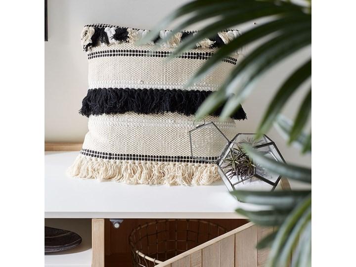 Poszewka na poduszkę Fosse 45x45 cm biało-czarna Kwadratowe Poszewka dekoracyjna Kolor Beżowy