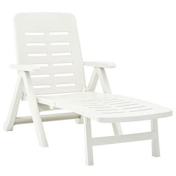 Biały rozkładany leżak ogrodowy - Dantes