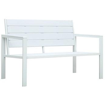 Biała ławka ogrodowa z oparciem - Daria
